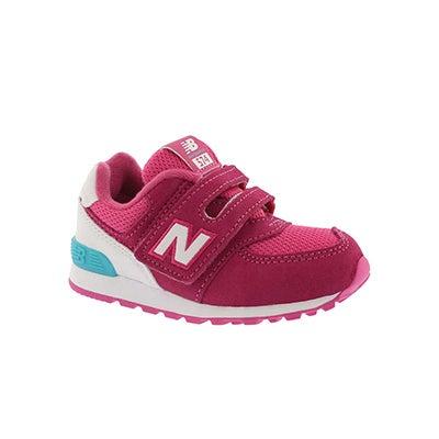 Infs-g 574 pink/white sneaker
