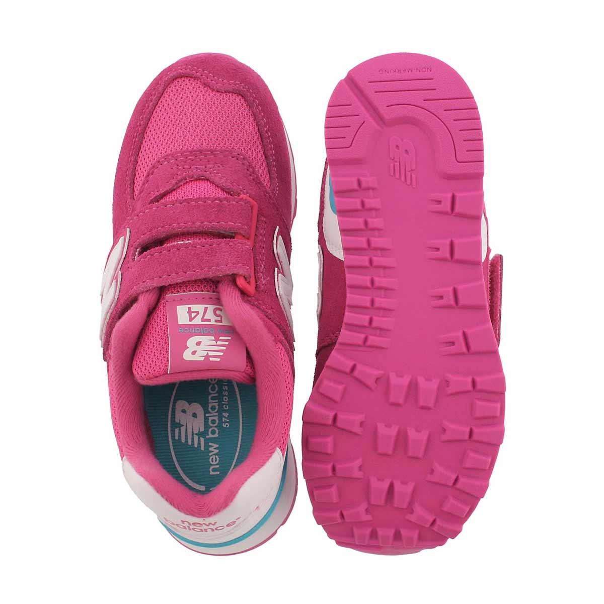 Grls 574 pink/white sneaker