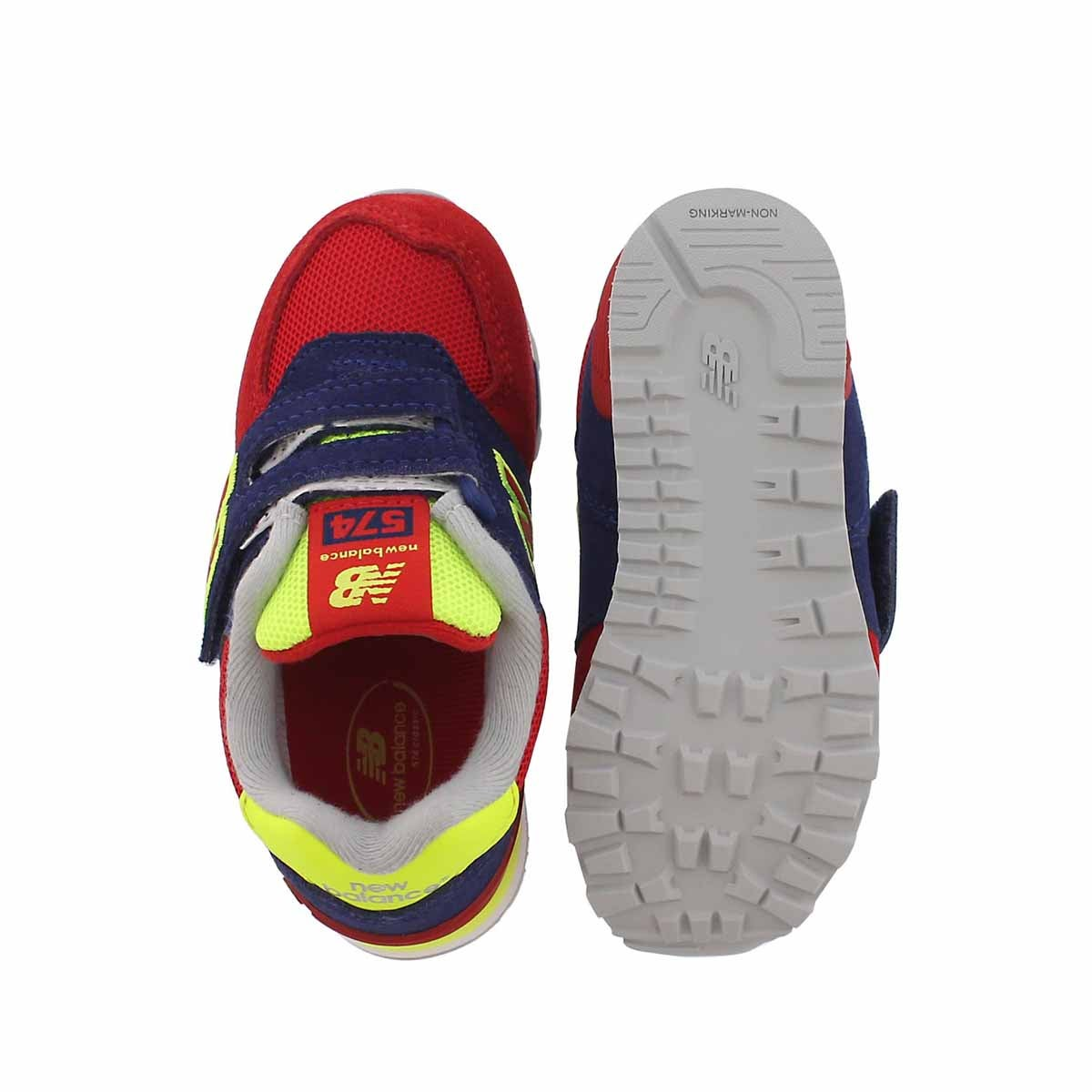 Infs 574 blue/red sneaker
