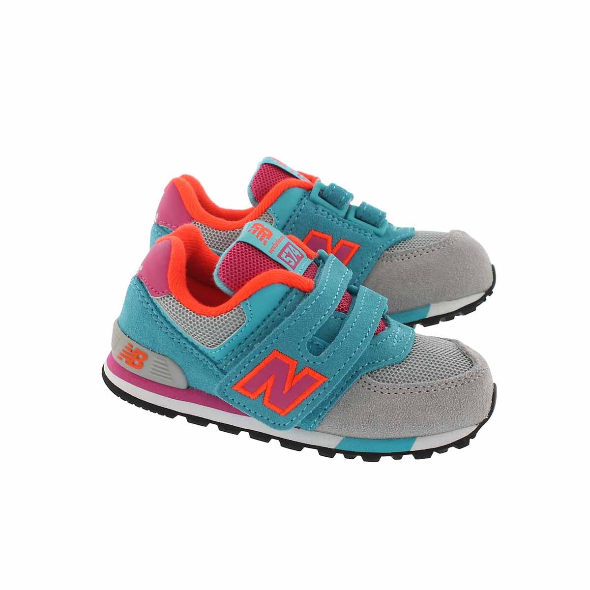 Infs-g 574 grey/teal/pink sneaker