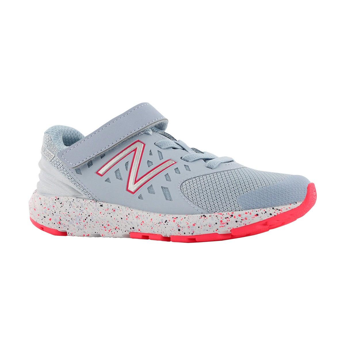 Grls Urge blue/pink bungee lace sneaker