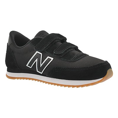 New Balance Boys' 501 black two strap sneakers