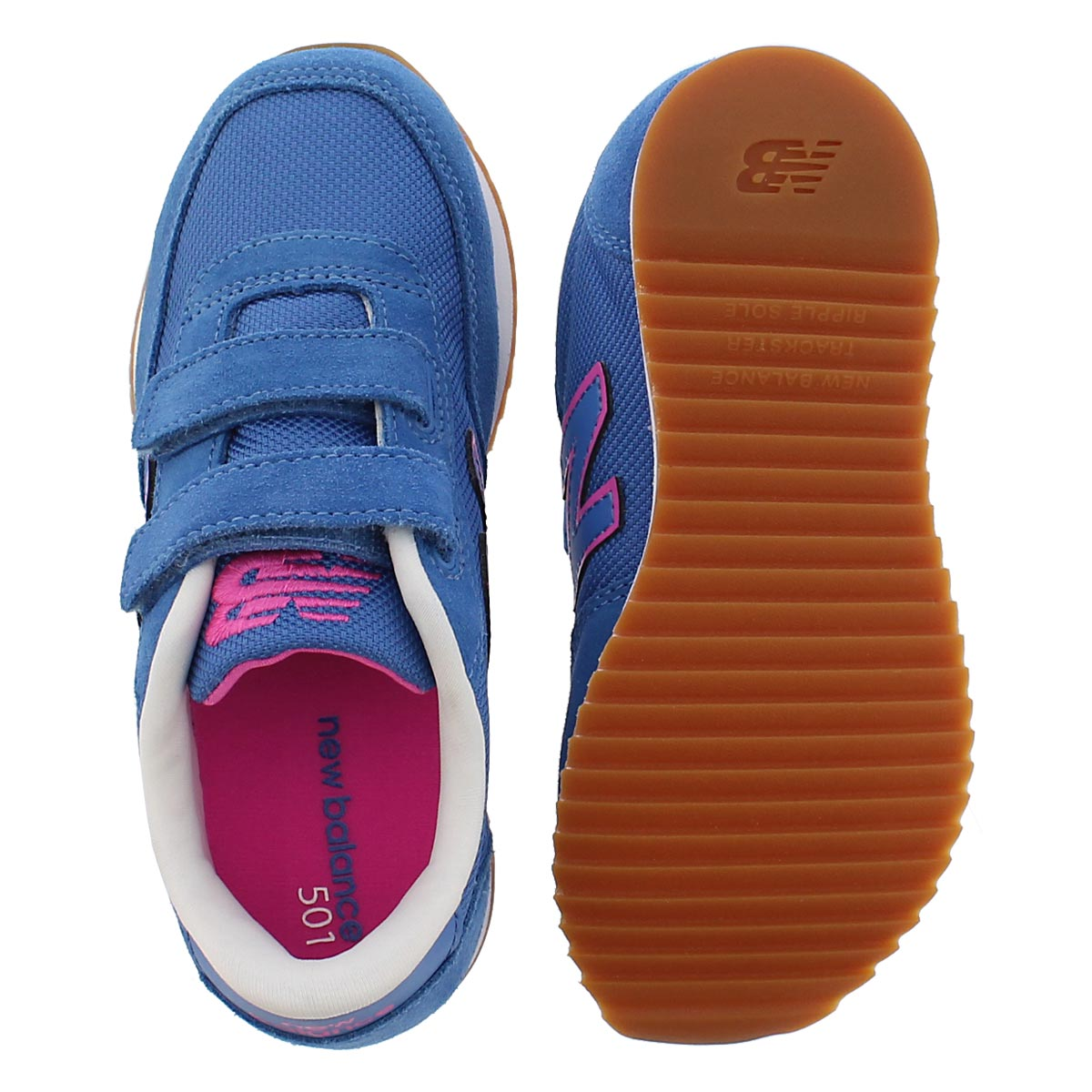 Grls 501 blue/pink two strap sneaker