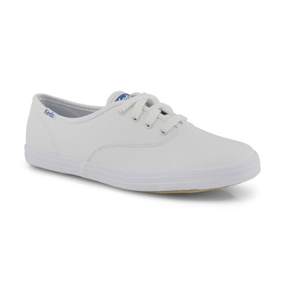 Keds Kids' CHAMPION white leather sneakers