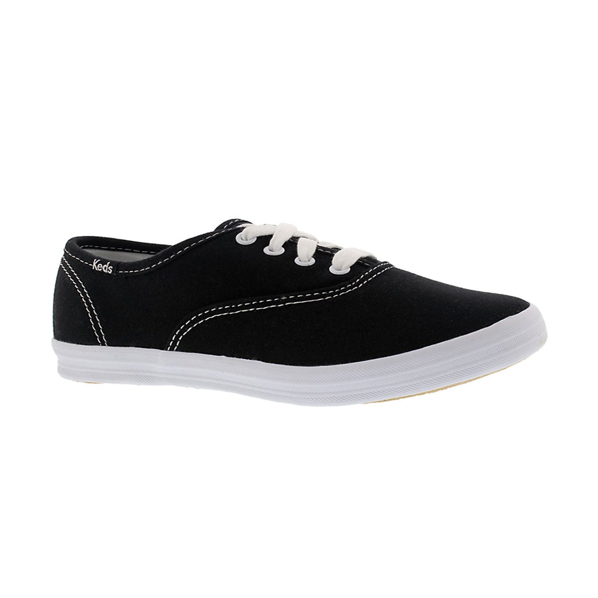 Girls' CHAMPION CVO black/white canvas sneakers