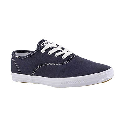 Keds Girls' CHAMPION navy canvas sneakers