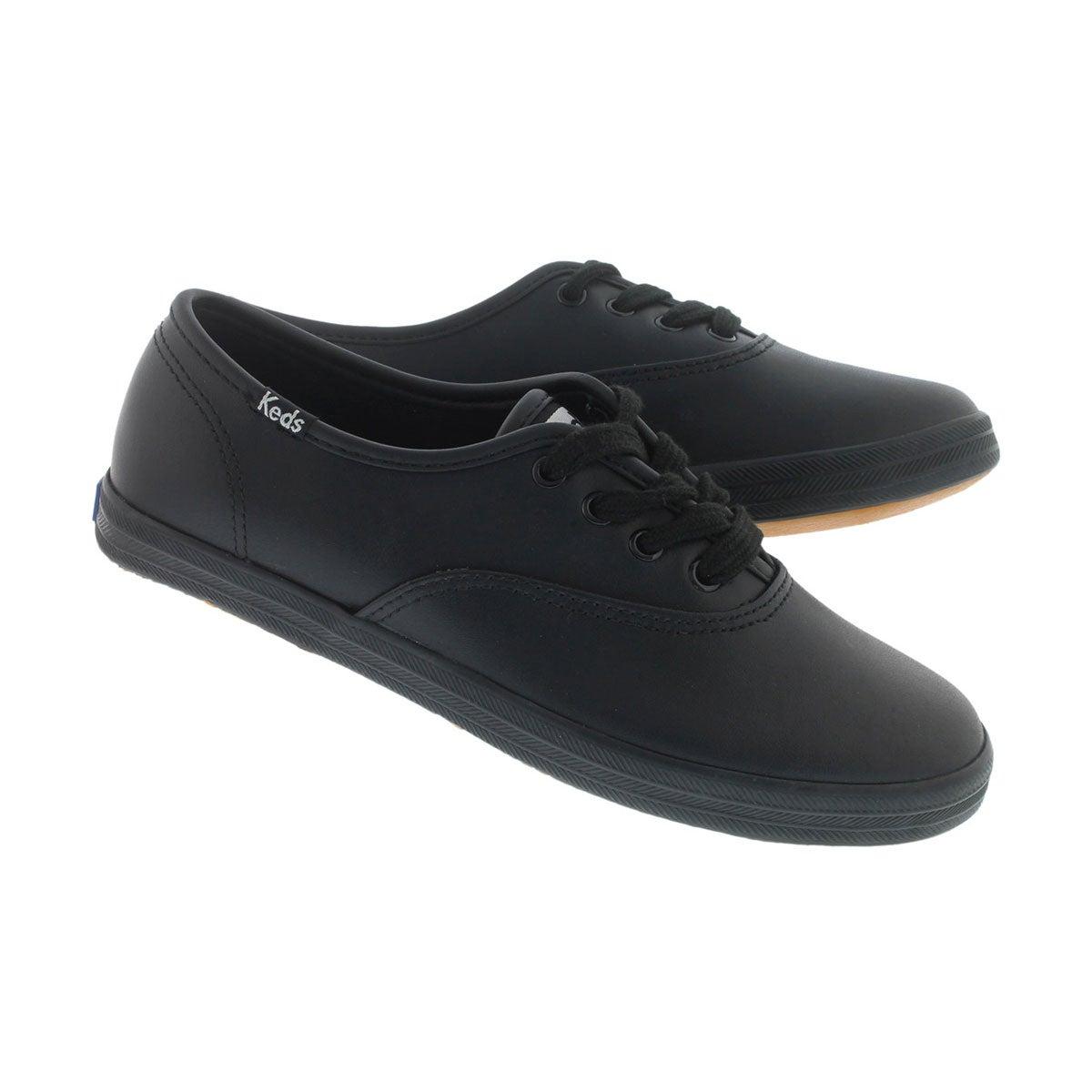 Girls' Champion black leather sneaker