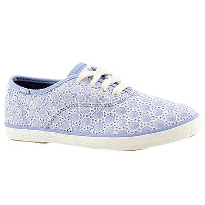 Keds Girls' CHAMPION CVO SEASONAL blue sneakers