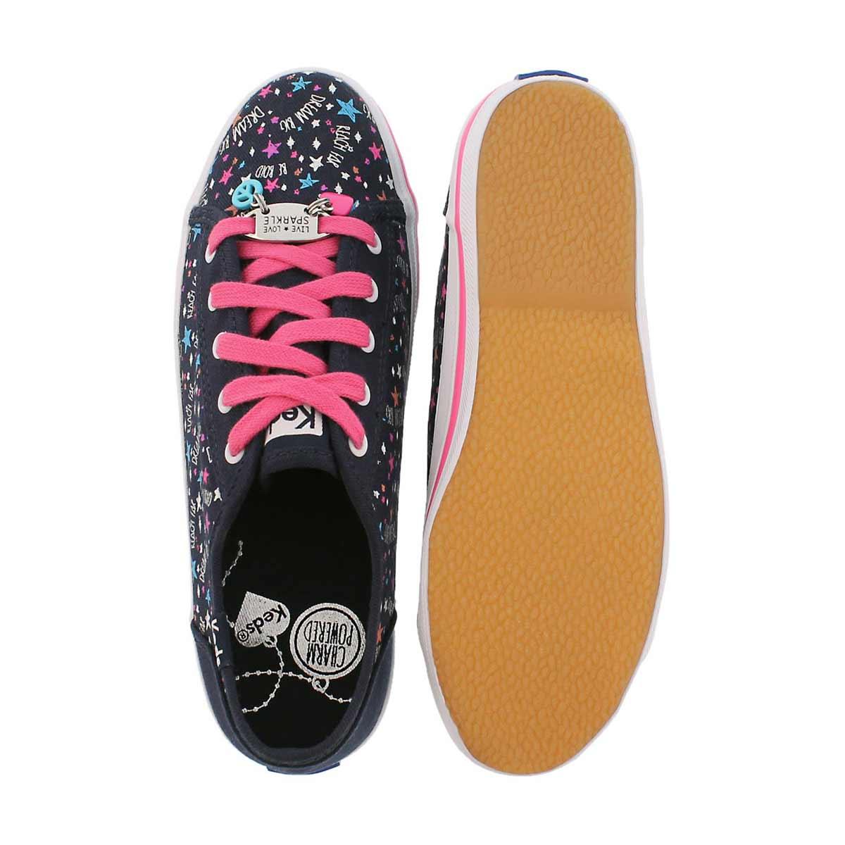 Grls Kickstart Charm nvy/pnk sneaker
