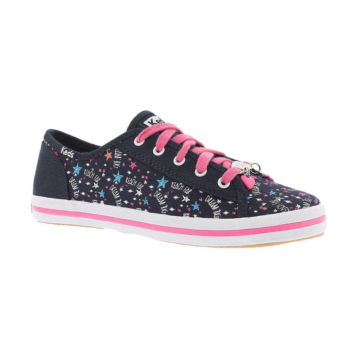 Girls' KICKSTART CHARM navy/pink sneakers