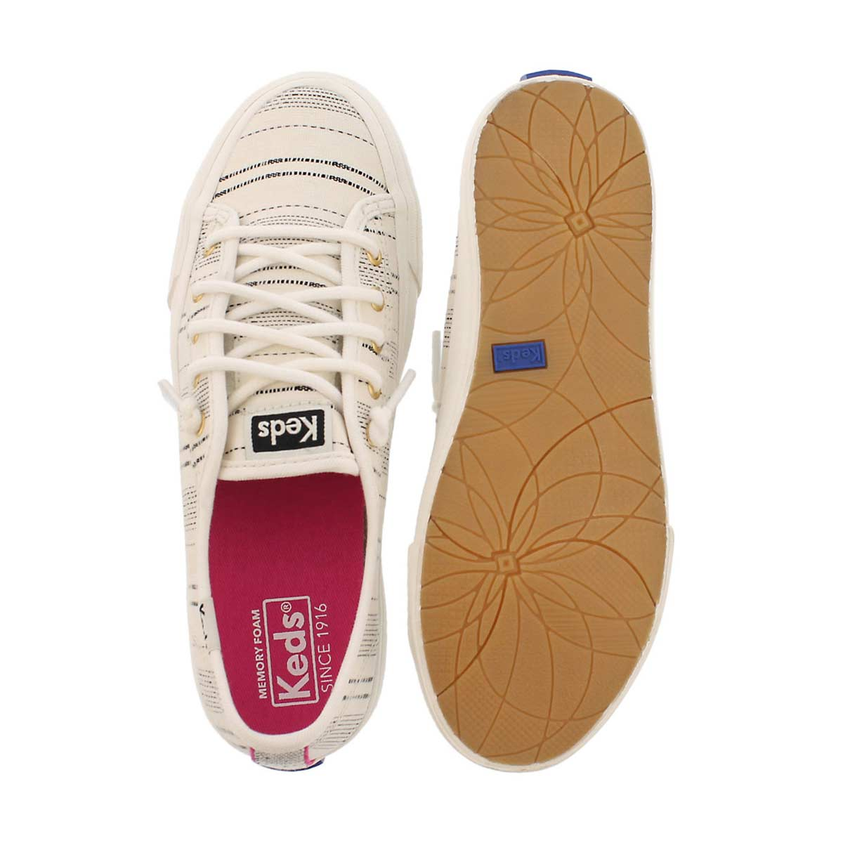 Grls Double Up ivory lace-up sneaker