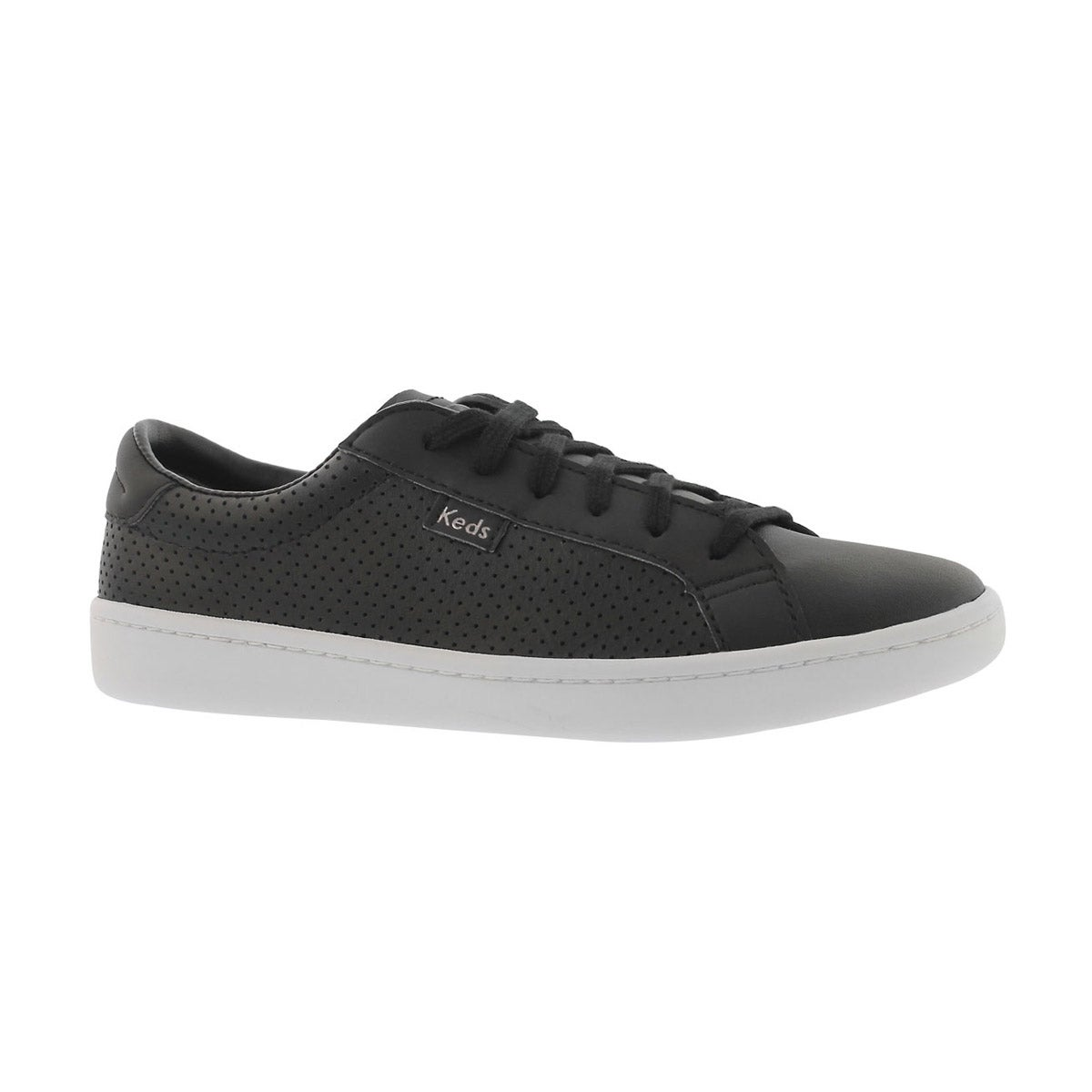 Girls' ACE black perforated lace up sneakers
