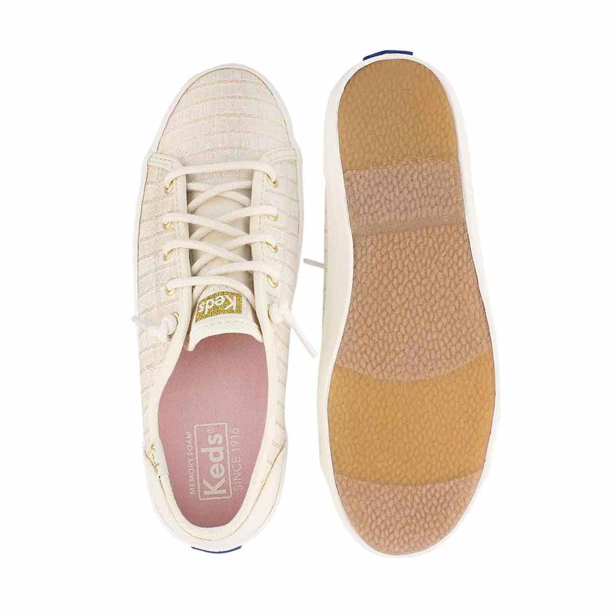Grls Kickstart Seasonal ivory sneaker