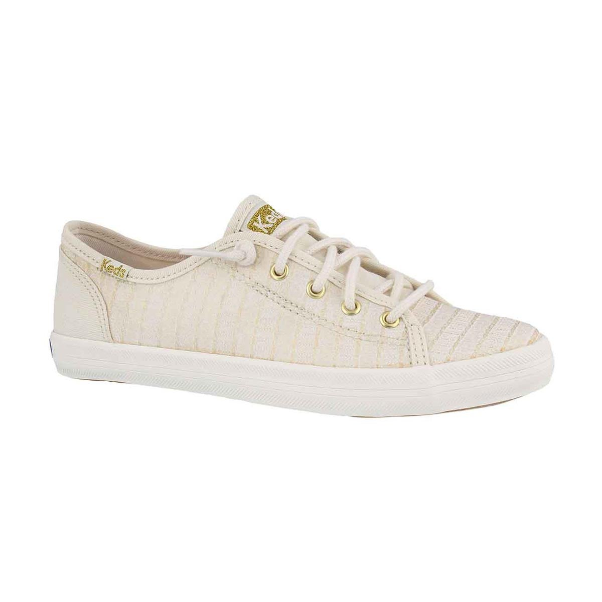 Girls' KICKSTART SEASONAL ivory sneakers