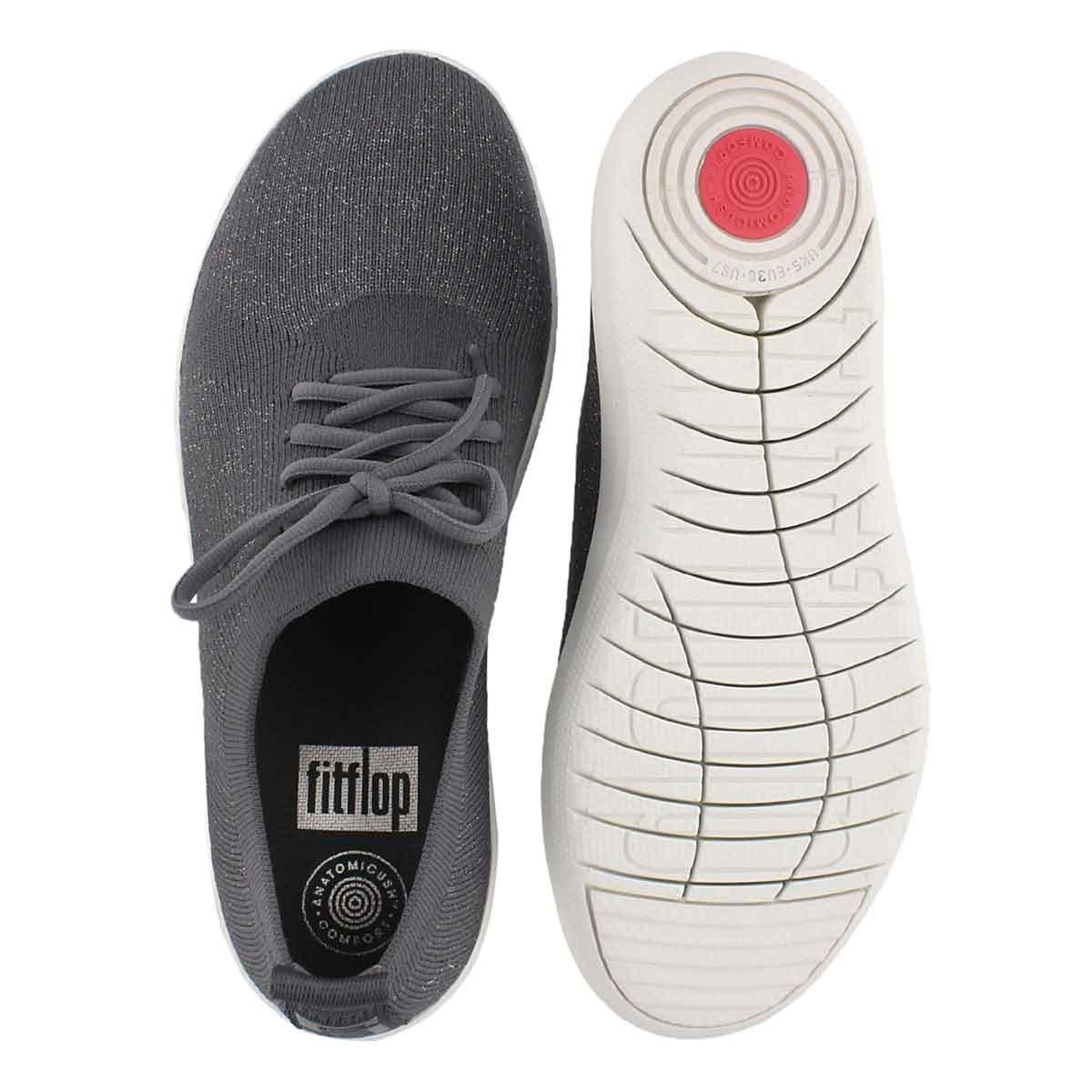 Lds Uberknit Sporty char/mtl pew sneaker