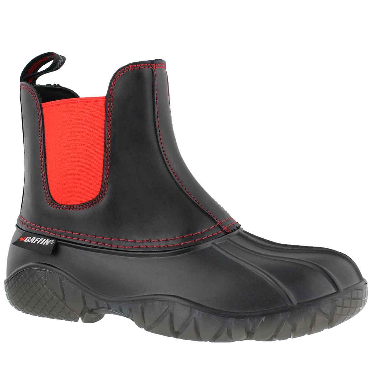 Lds Huron blk/red wtpf chelsea rainboot