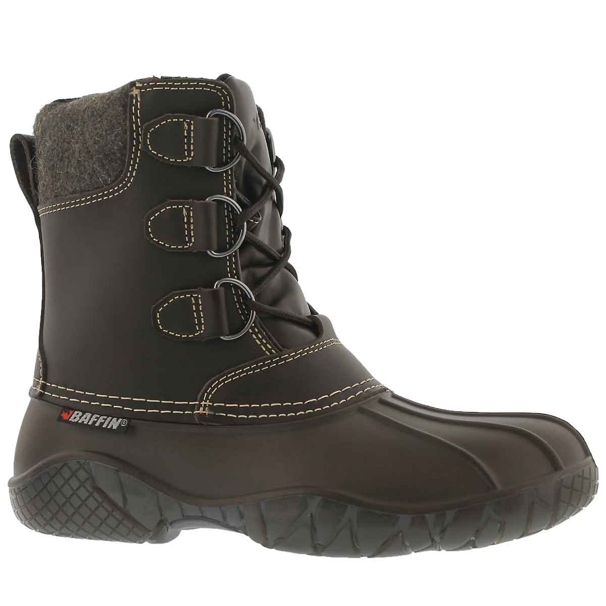 Women's SUPERIOR brown lace up rain boots