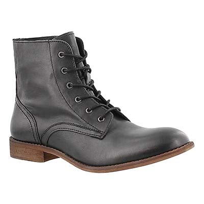 SoftMoc Women's LANA black leather lace up boots