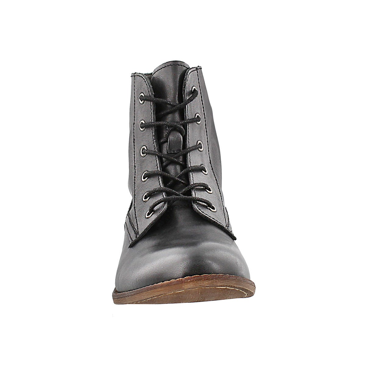 Lds Lana black leather lace up boot