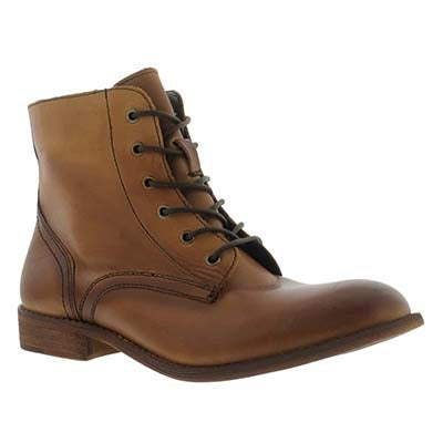 SoftMoc Women's LANA camel leather lace up boots