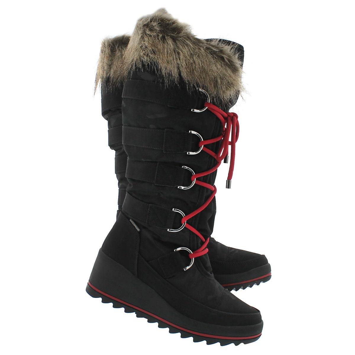 Lds Lancaster blk wpf pullon winter boot
