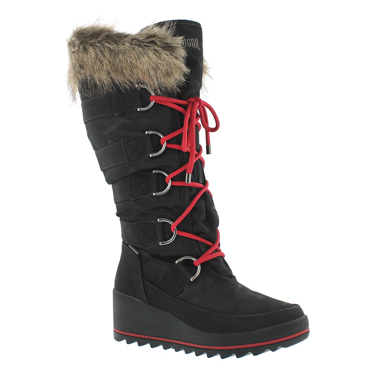 Women's LANCASTER black wpf pull on winter boots