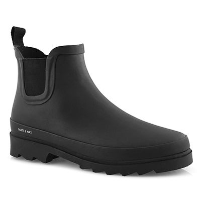 Lds Lane black vegan chelsea rain boot