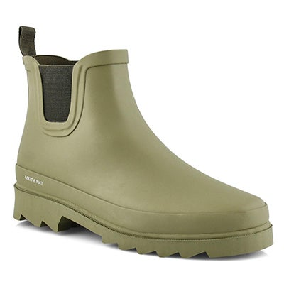 Lds Lane olive vegan chelsea rain boot