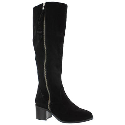 Lds Lasso black knee high dress boot