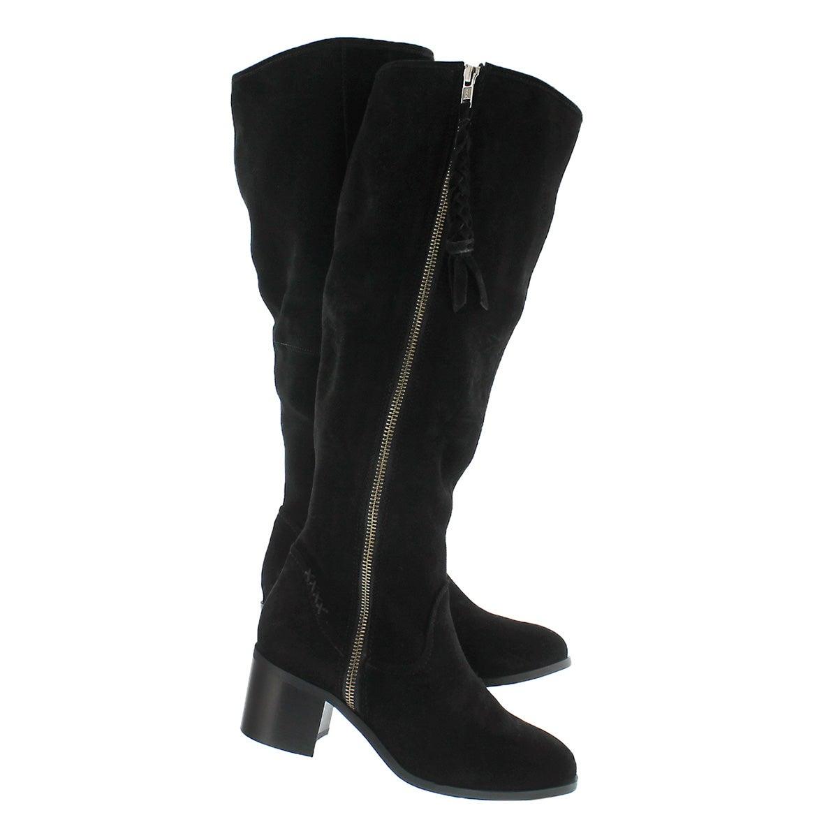 Lds Lasso black knee high dress boot