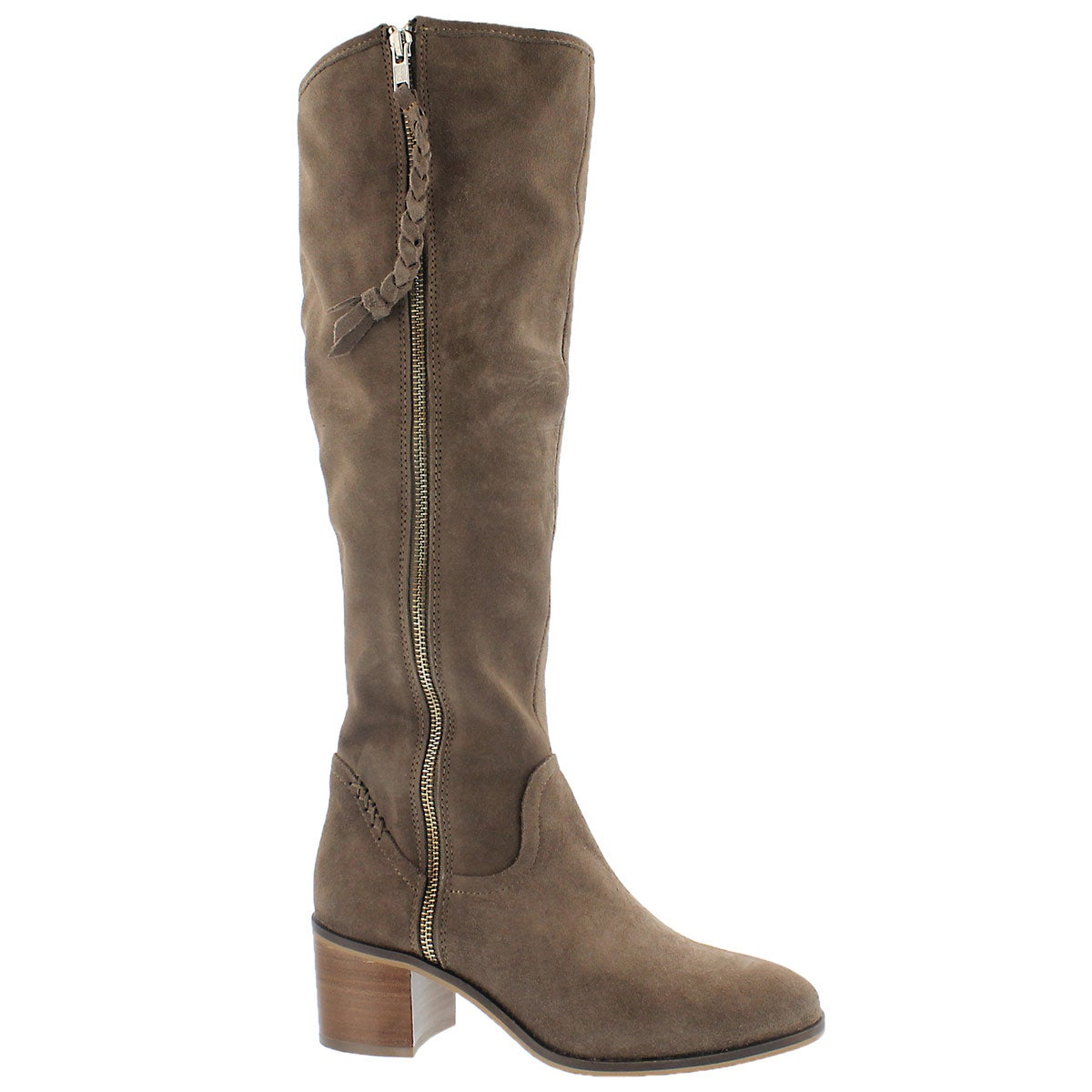 Lds Lasso taupe knee high dress boot