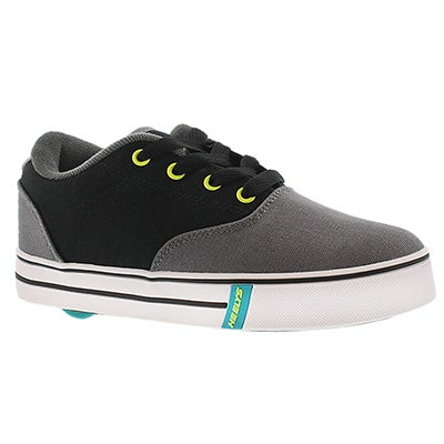 Heelys Boys' LAUNCH black/charcoal lace up sneakers