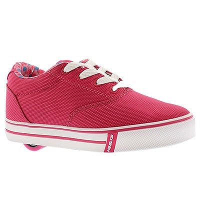 Heelys Girls' LAUNCH fuchsia lace up sneakers