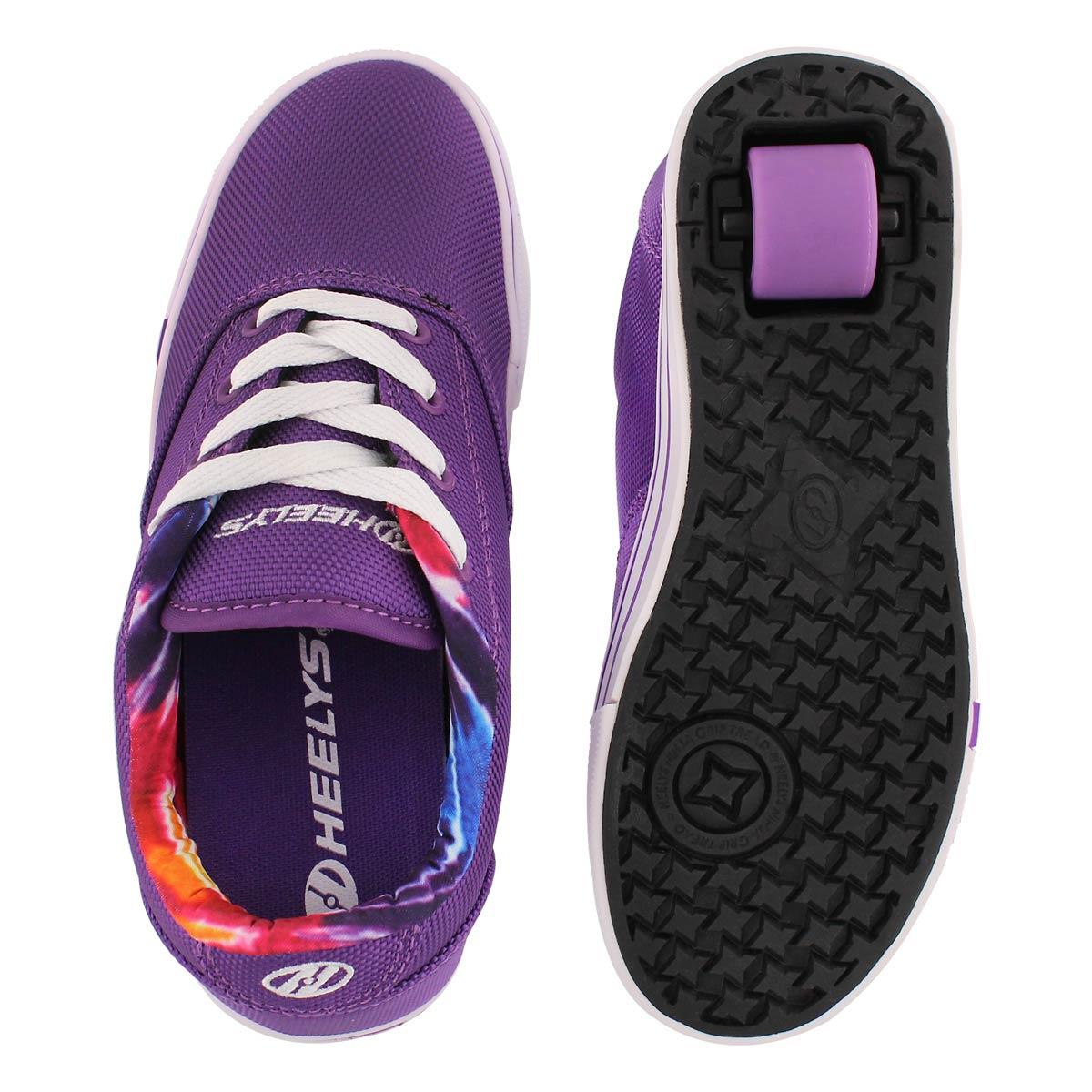 Espad. � roulette Launch, violet, filles
