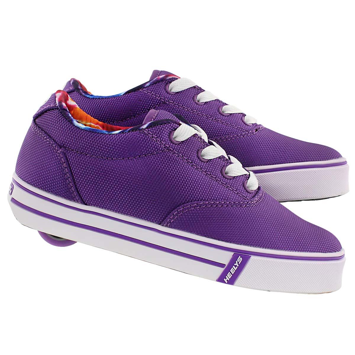 Grls Launch purple skate sneaker
