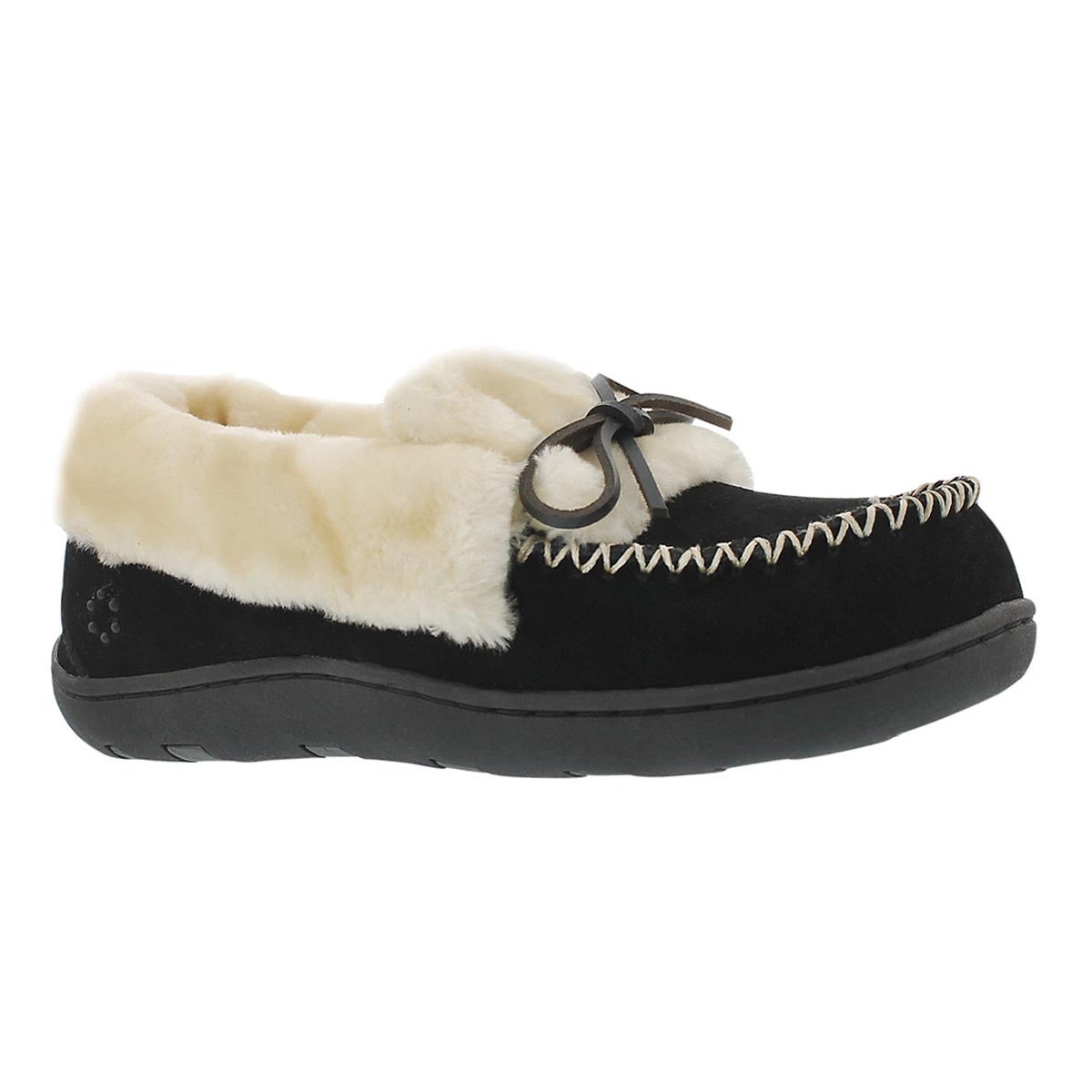 Lds Laurin black lace up moccasin