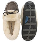 Lds Laurin grey lace up moccasin