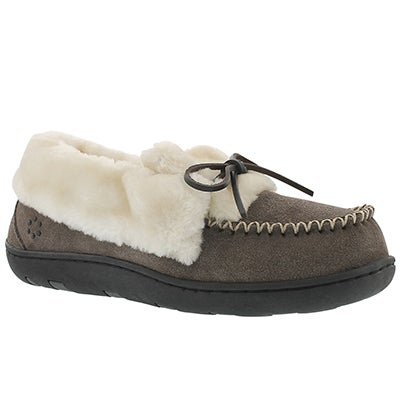 Tempur-Pedic Women's LAURIN grey lace up moccasins