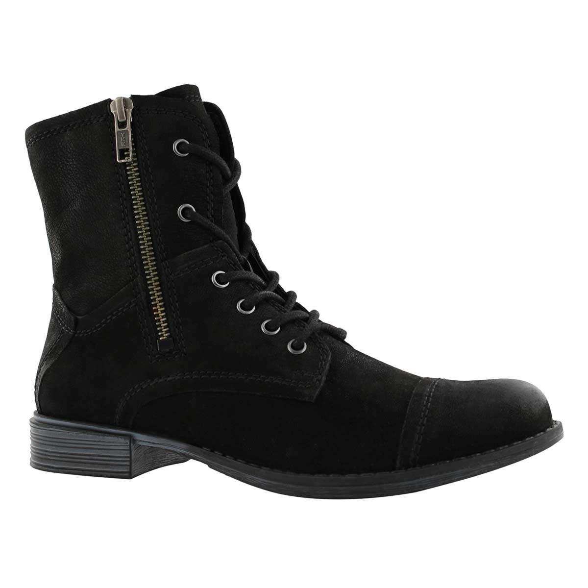 Lds Layla black side zip combat boot