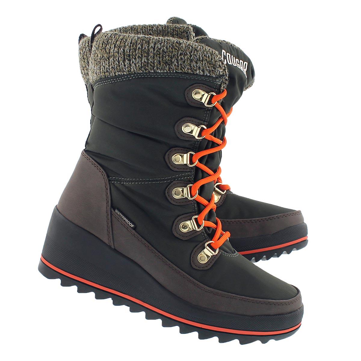 Lds Layne khaki wtpf pull on winter boot