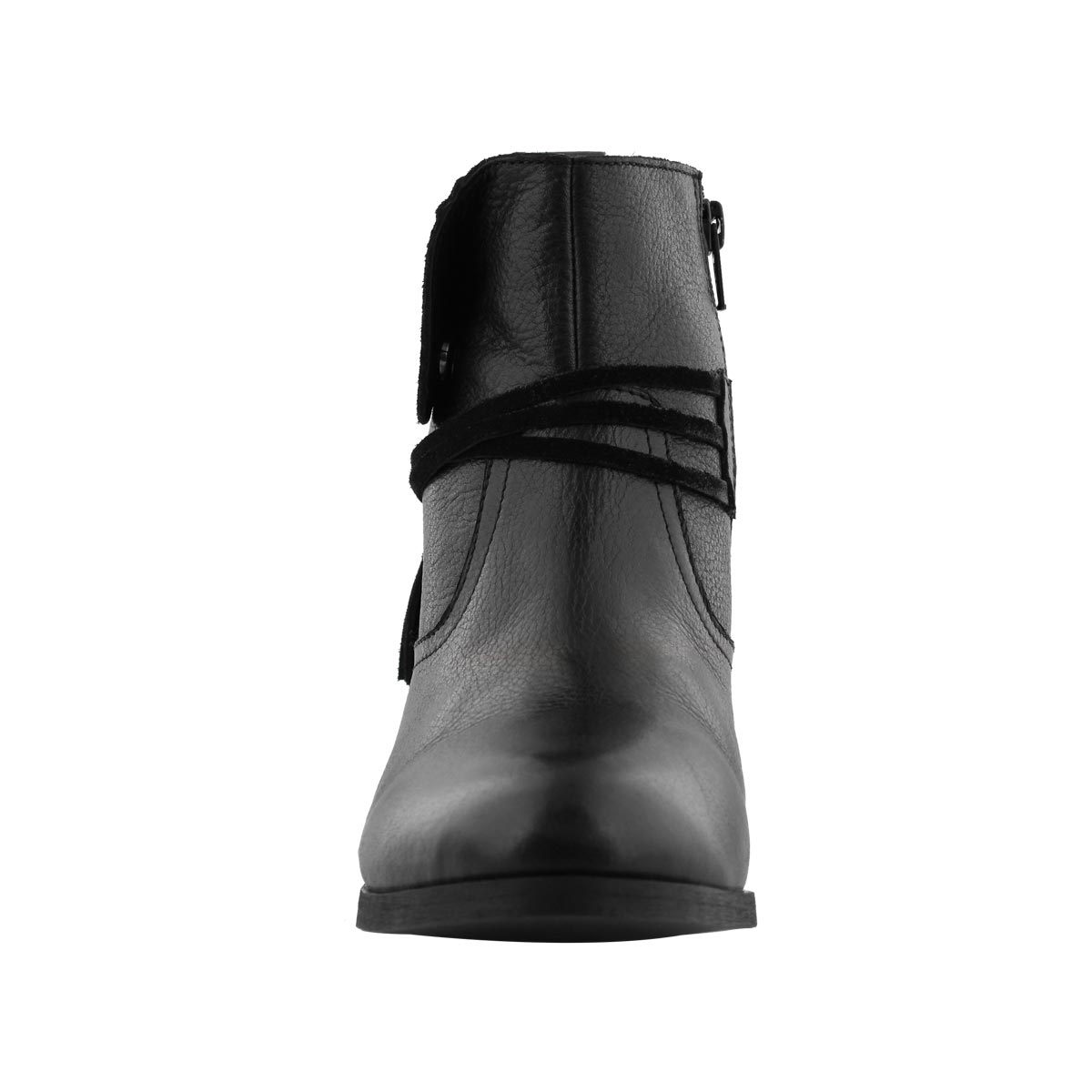 Lds Leah black side zip ankle boot