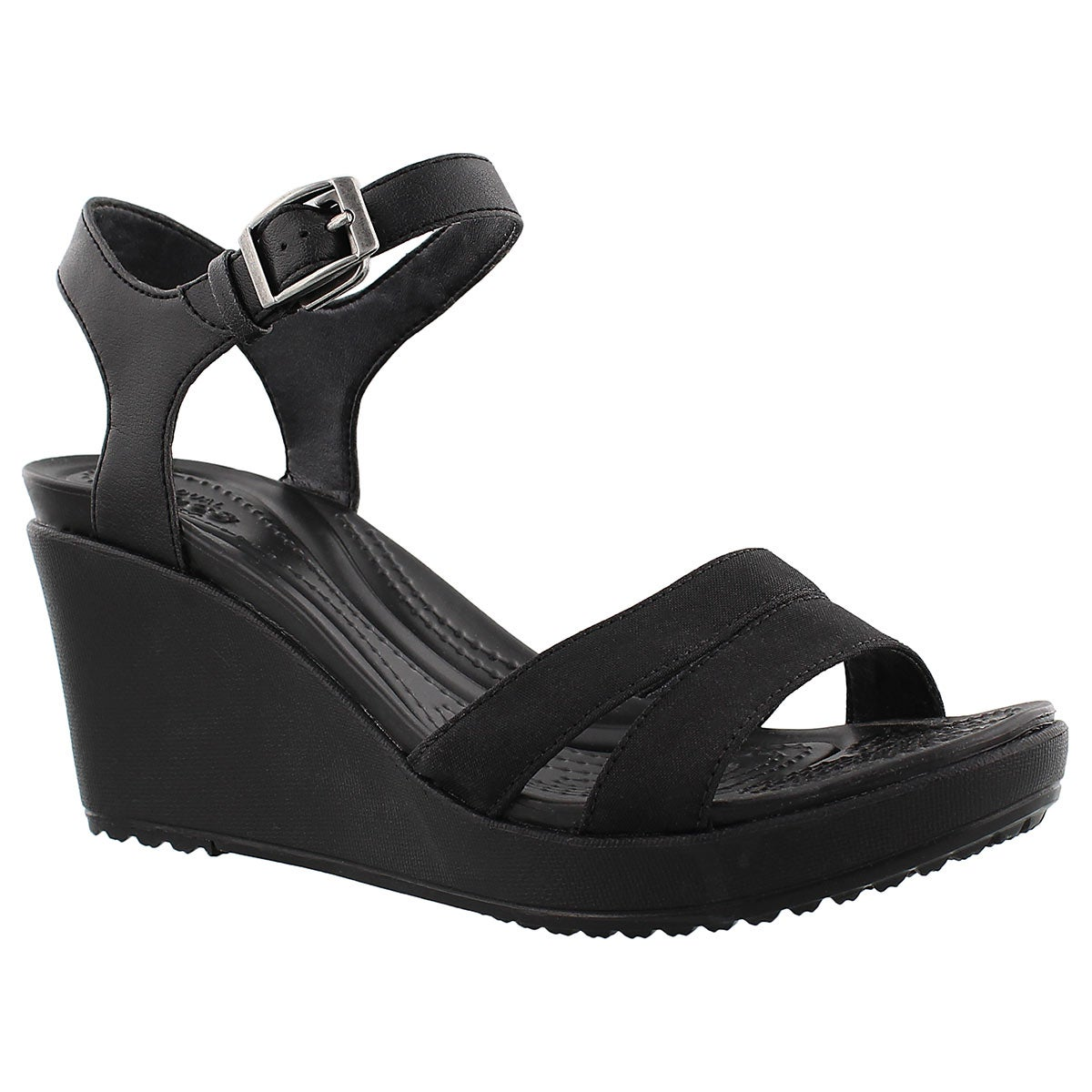 Women's LEIGH II black wedge sandals