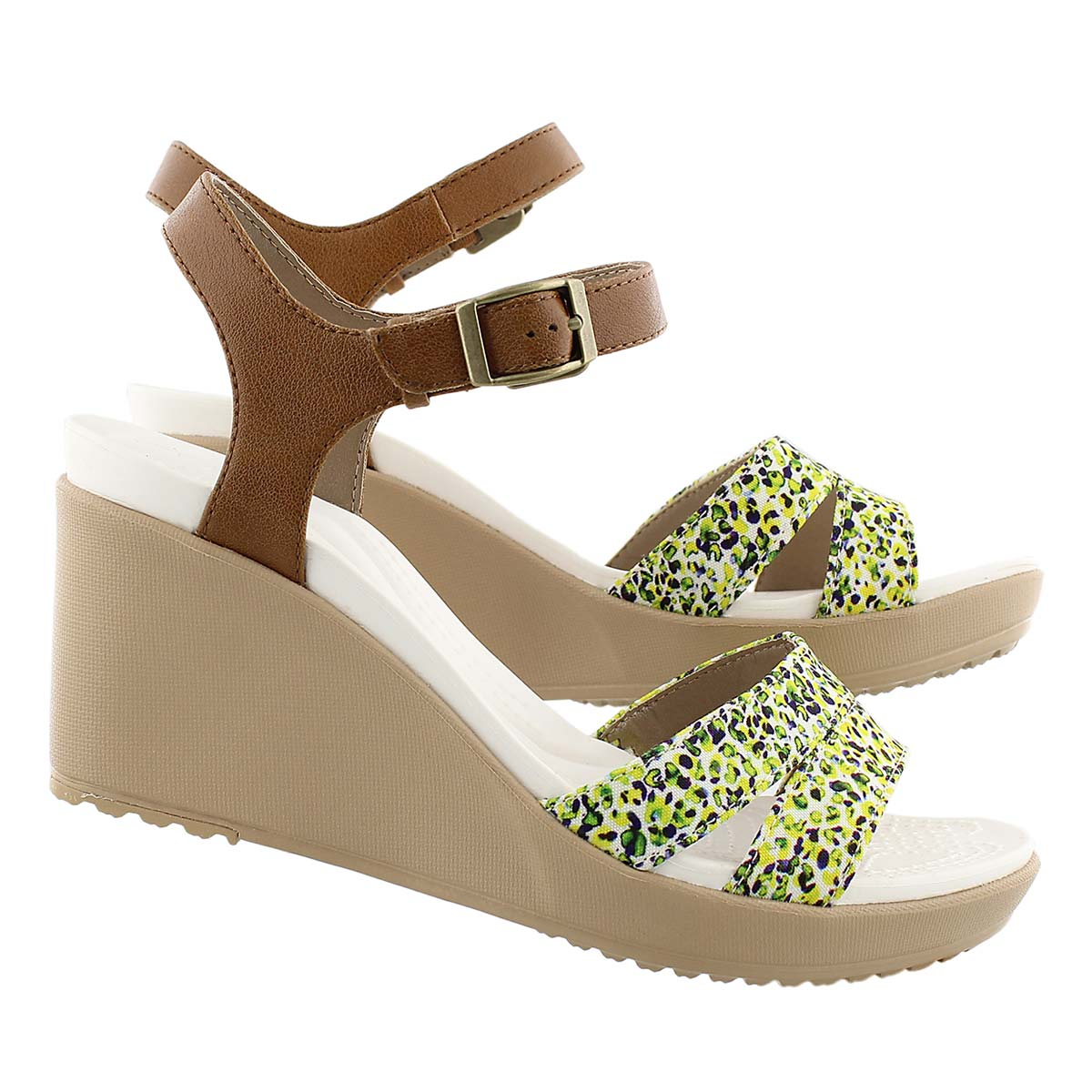 Lds Leigh II hzlnt/gld wedge sandal