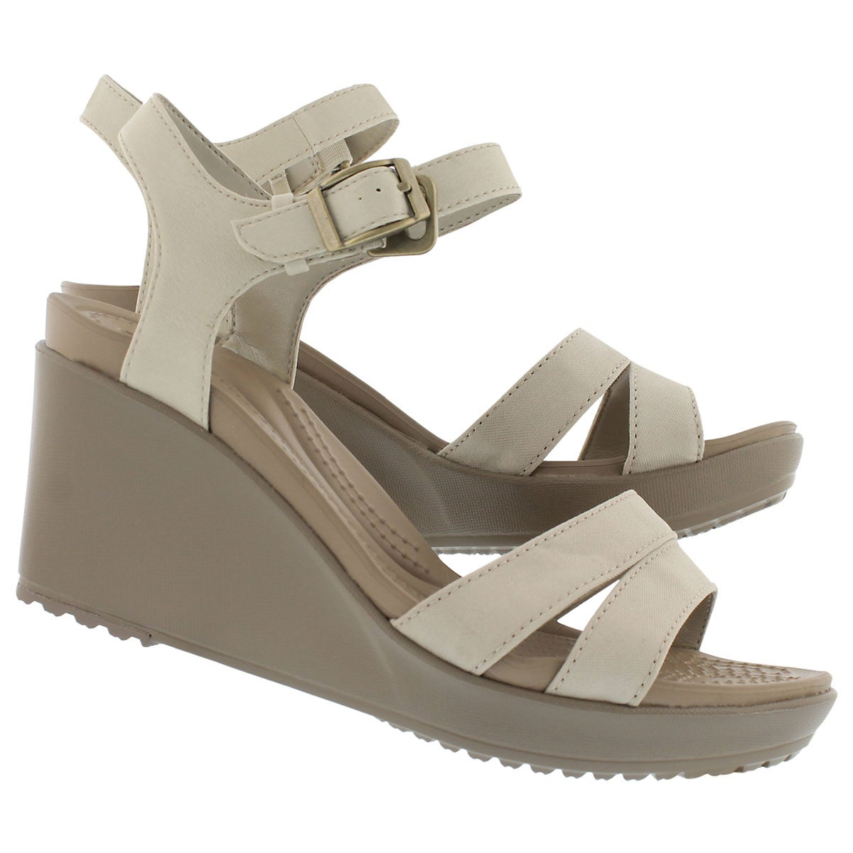 Lds Leigh II oatmeal/kki wedge sandal