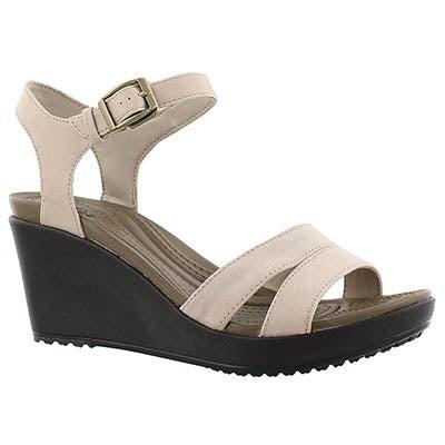 Crocs Women's LEIGH II tumbleweed wedge sandals