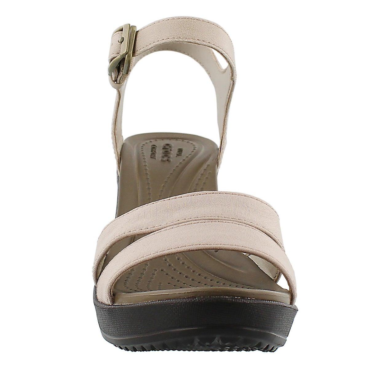 Lds Leigh II tumbleweed wedge sandal
