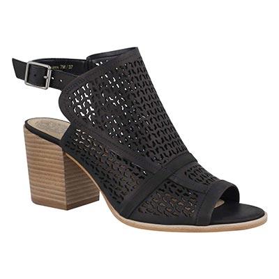 Lds Lendia black peep toe dress sandal