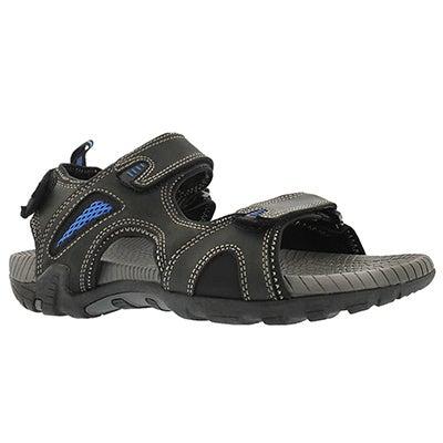 SoftMoc Men's LENNOX 2 black 3 strap sport sandals