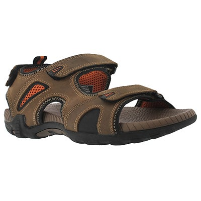 SoftMoc Men's LENNOX 2 tan 3 strap sport sandals