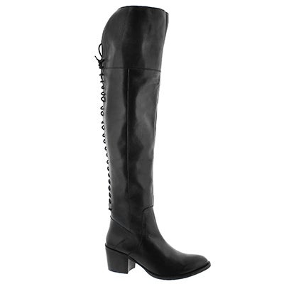 Lds Leonore black knee high dress boot